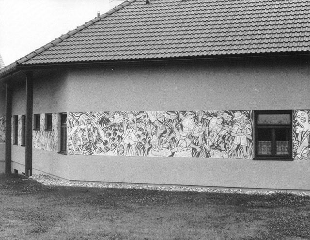 erich steininger, sgraffito am kindergarten rappottenstein