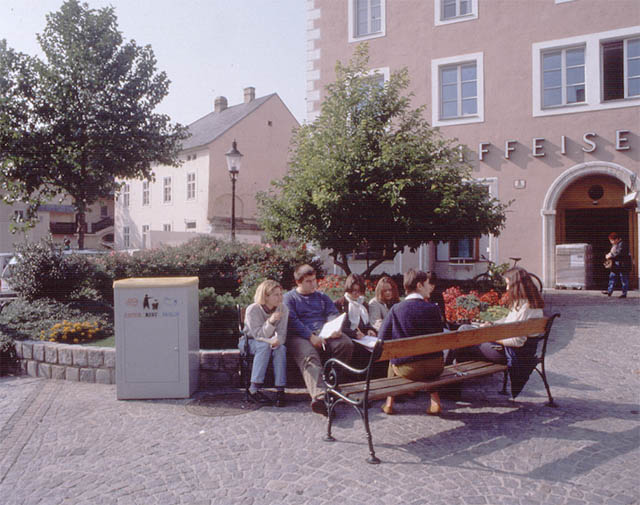 erwin wurm, project for the old town center of krems
