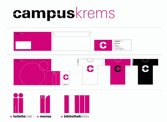 PURPUR, corporate design for the campus in krems <br />