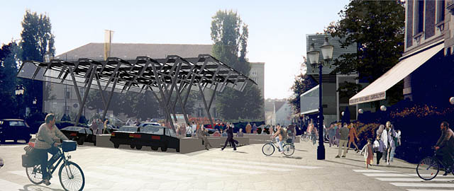 ESCAPE*spHERE, a garage for bicycles for the city of krems an der donau