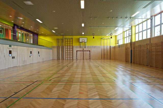 K.U.SCH., colour scheme for the sports hall