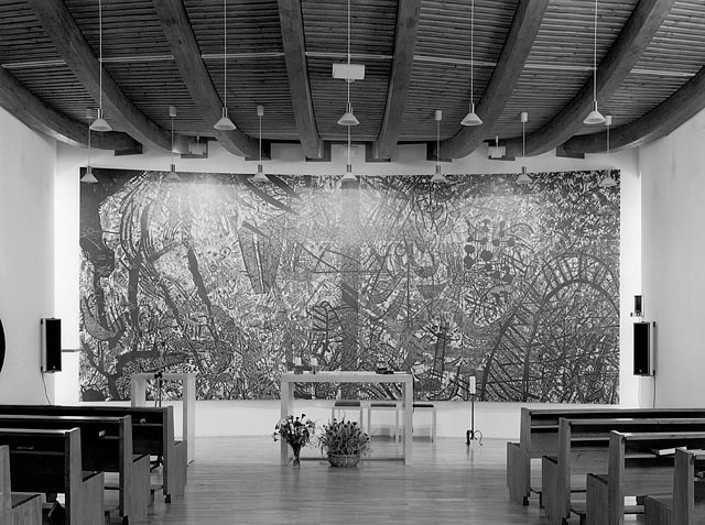 erich steininger, meditation wall in the chapel of the old people